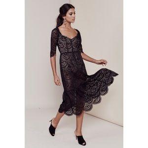 ✨FOR LOVE & LEMONS✨Rosalita Dress in Black